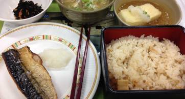 japanese fish lunch