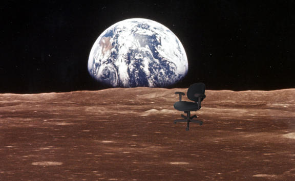 Virtual Offices on the Moon