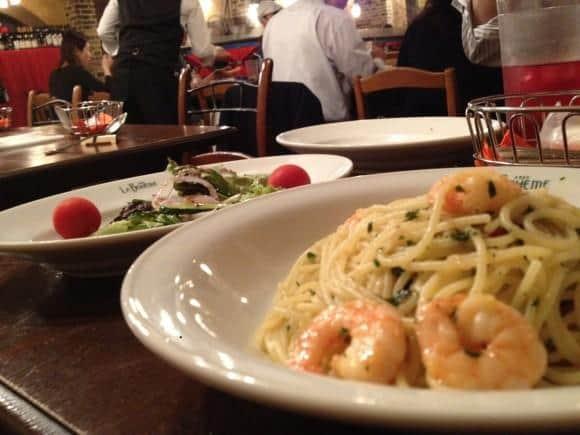 Spaghetti at La Boheme