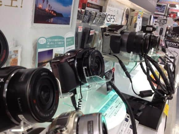 Lumix cameras at Bic Camera in Yurakucho