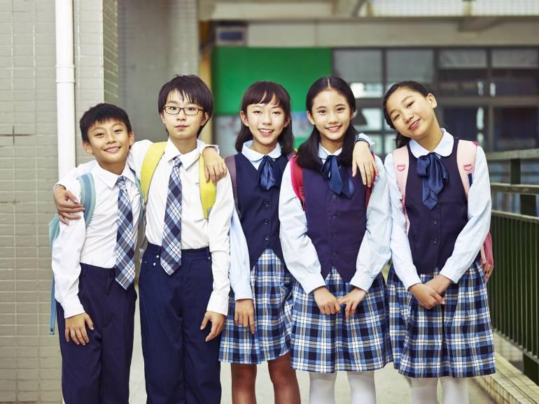 school students wearing uniforms