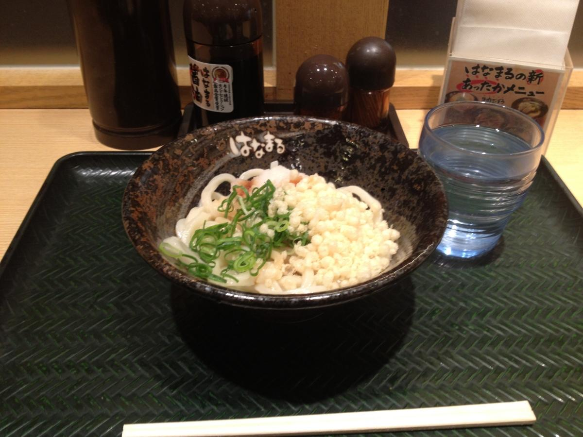 Sanuki Udon Hanamaru - A Sit-down Meal for 105yen
