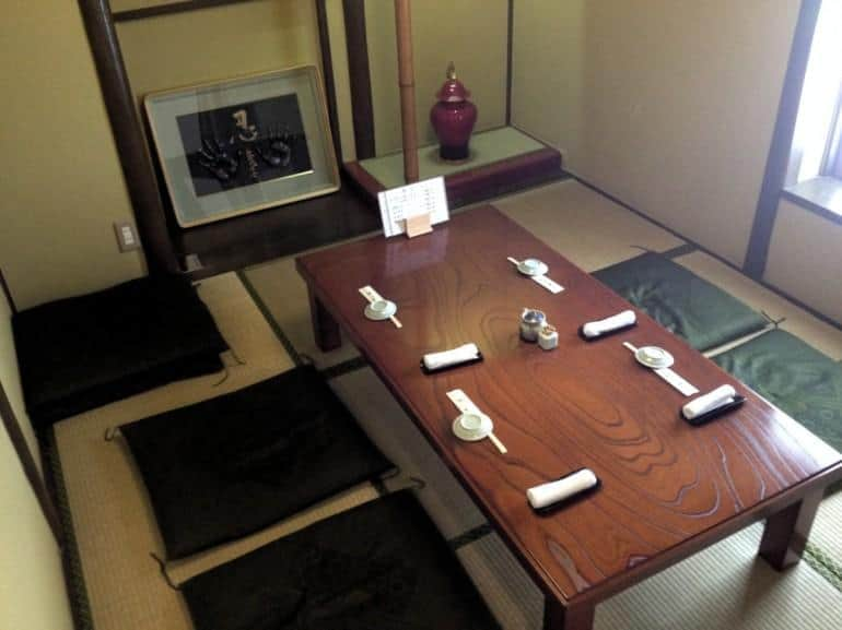 If you arrive when Katsura opens at 11:30, you can get one of two private rooms.