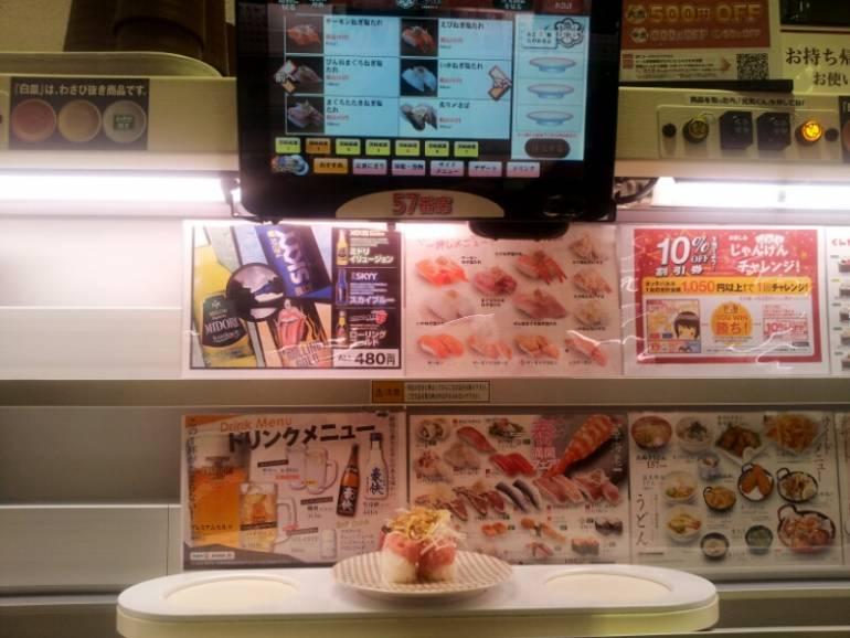 Sushi plate at Uobei Sushi