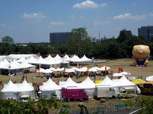 The event stage for the outer park