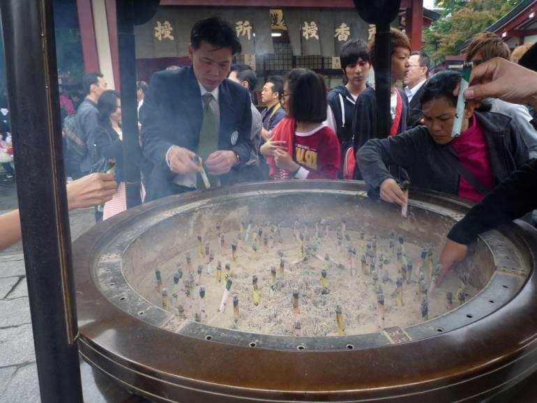 Purifying smoke at Sensoji things to do in asakusa