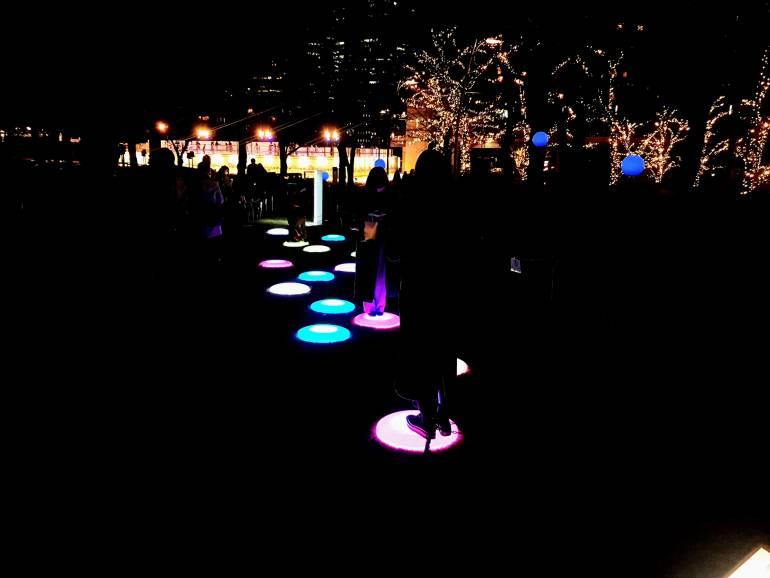 Interactive Lights at Tokyo Midtown