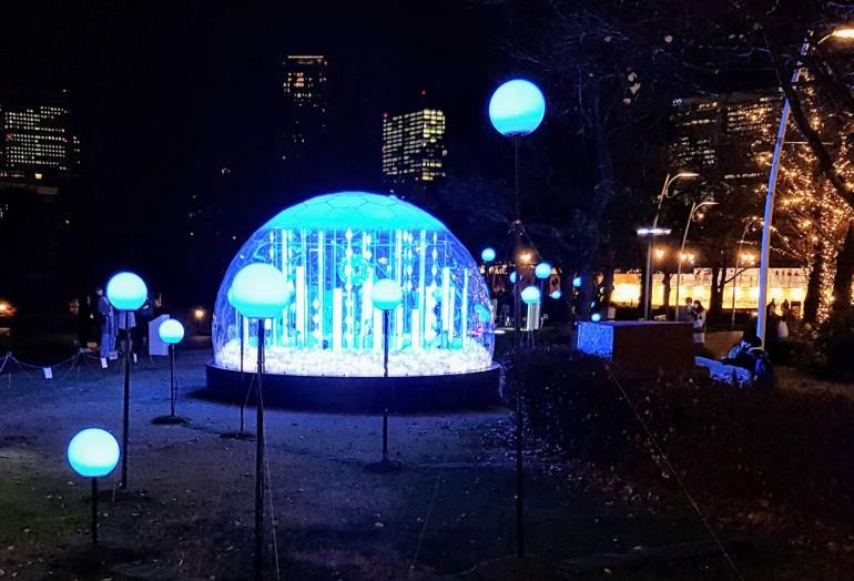 Snow Globe Midtown winter lights