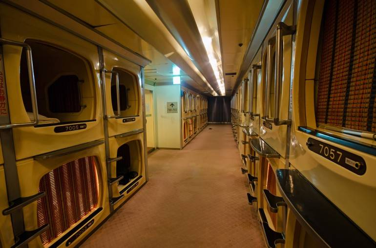 Tokyo for beginners - Capsule hotel pic by Fougerouse Arnaud, used under a Creative Commons licence.