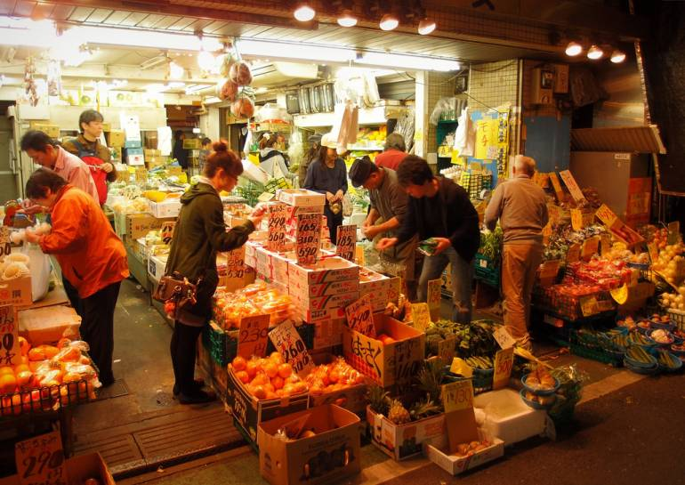 Local greengrocer Tokyo