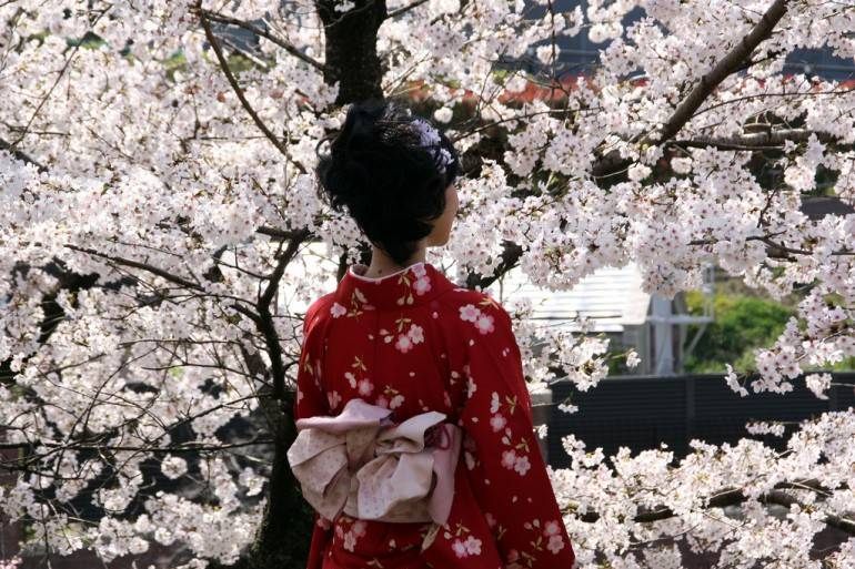 Tokyo for beginners - traditional kimono girl in Tokyo
