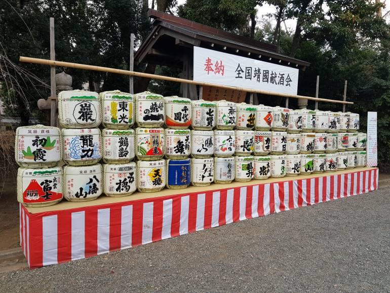 Sake Barrels Yasukuni Shrine