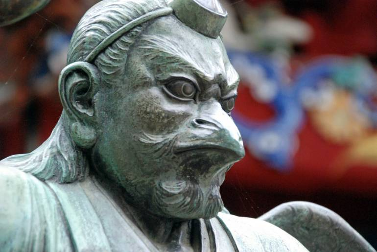 Bird-style tengu at Takao.