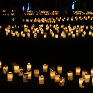 Washi Candle Garden