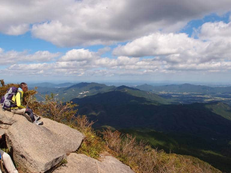 The summit of Nyotai Peak at Mt Tsukuba.
