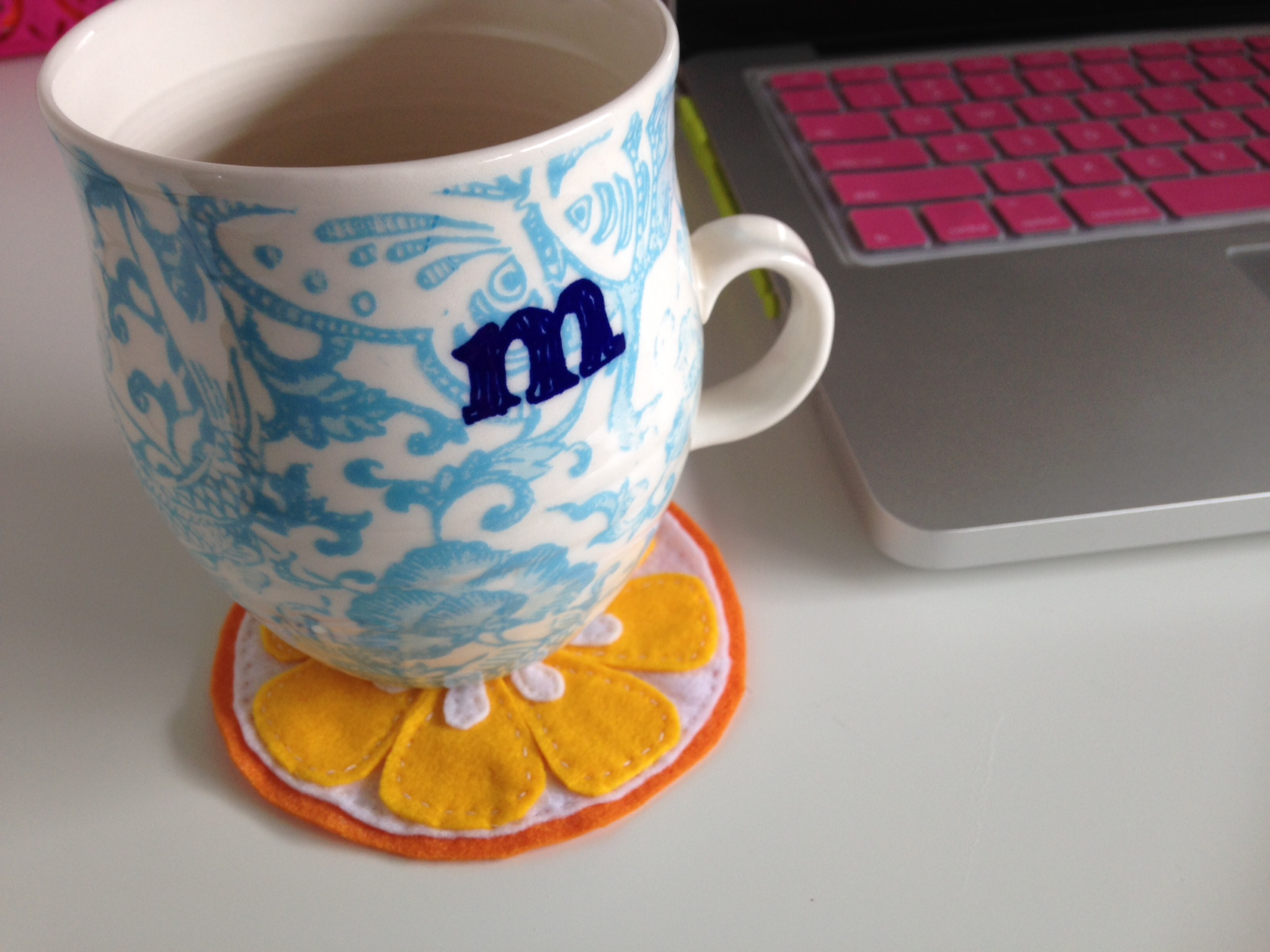 Cheapo Craft: DIY Felt Citrus Coaster