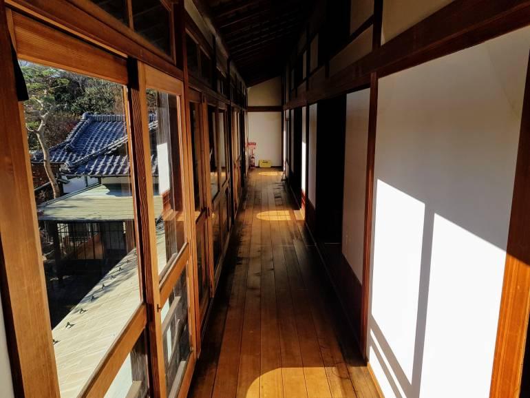 A second floor passageway in Kyu-Asakura House