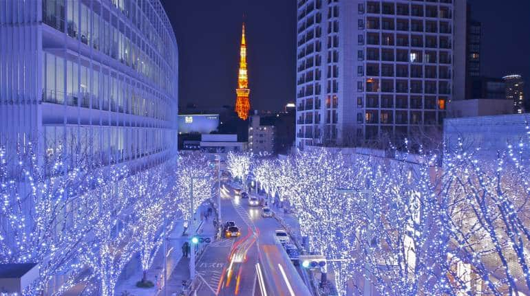 roppongi christmas illuminations tokyo tower