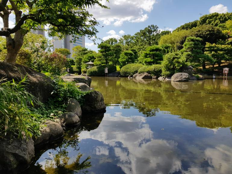 Ornamental Japanese garden in Sumida Park