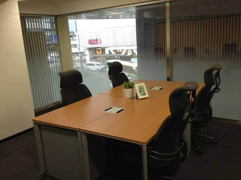A 4 person office at Compass Meguro - Tokyo Serviced Offices