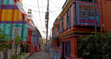 Colourful love hotels