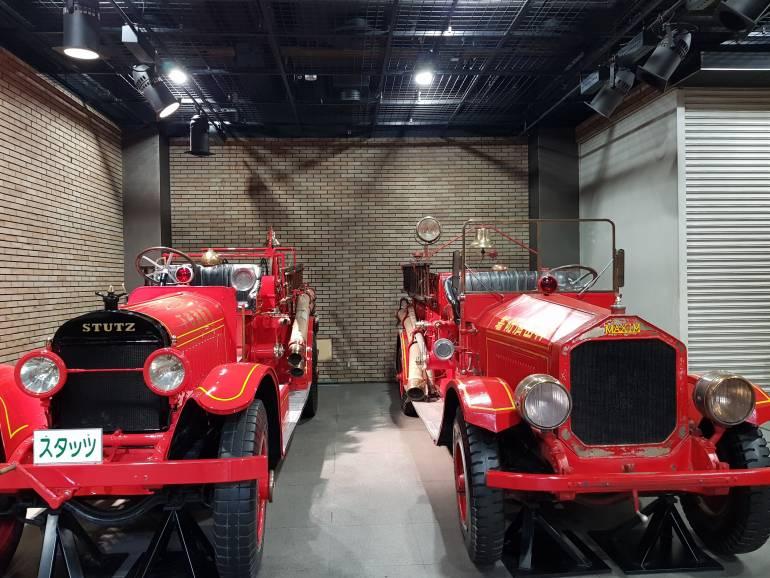 Old fire trucks