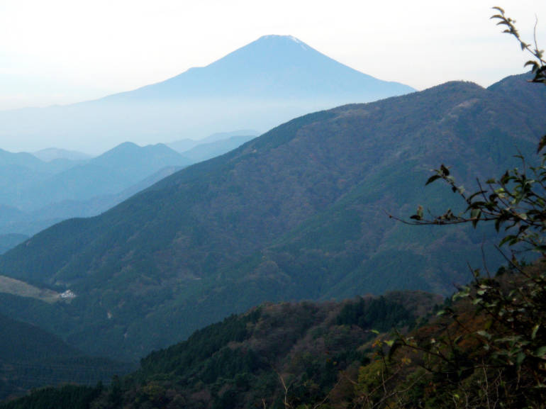 Mt. Fuji as viewed from Mt. Oyama.