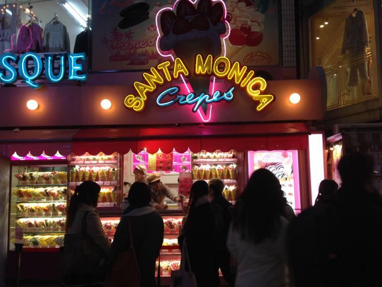 Santa Monica crepes storefront