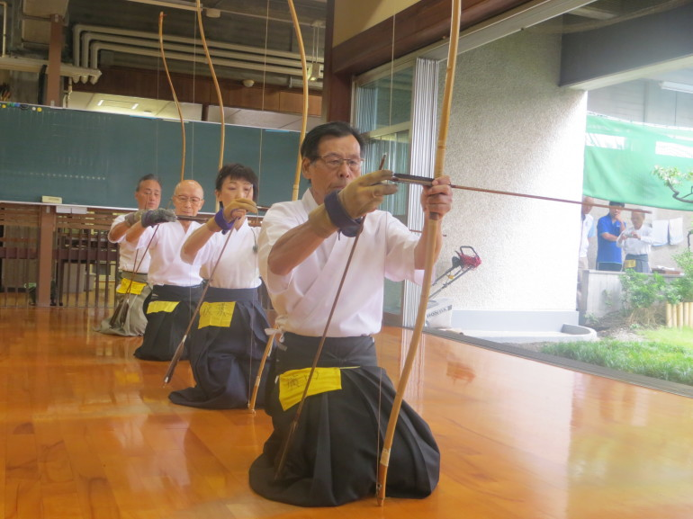 The instructors at the kyudo event I attended. Photo by Tiffany Lim.