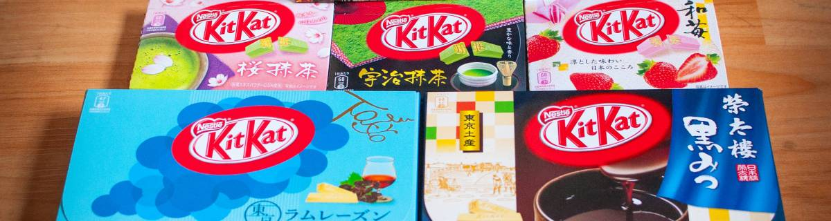 Shopping for Unusual Japanese Kit Kats