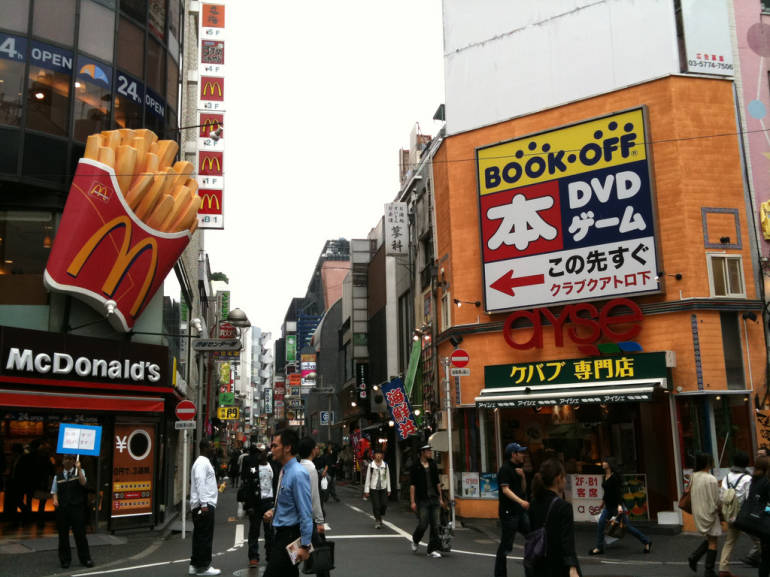 Book Off in Shibuya - cheap english books Japan