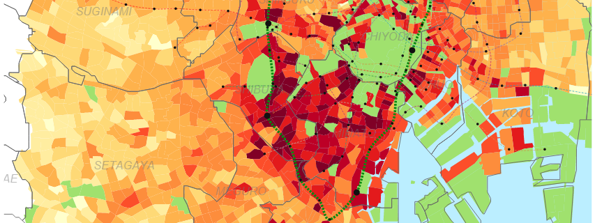 New Interactive Rent Map Reveals Cheapest Tokyo Neighbourhoods