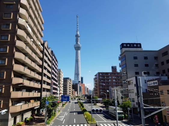 Tokyo Skytree from near Sumida River