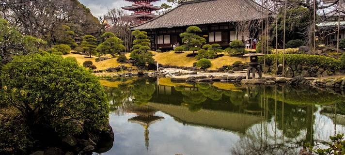 A Hidden Garden of Delights at Denpoin Temple