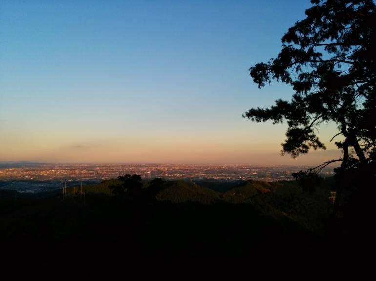view of Tokyo from Koburi Pass