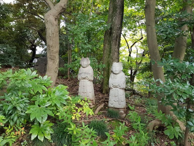 International House garden statues