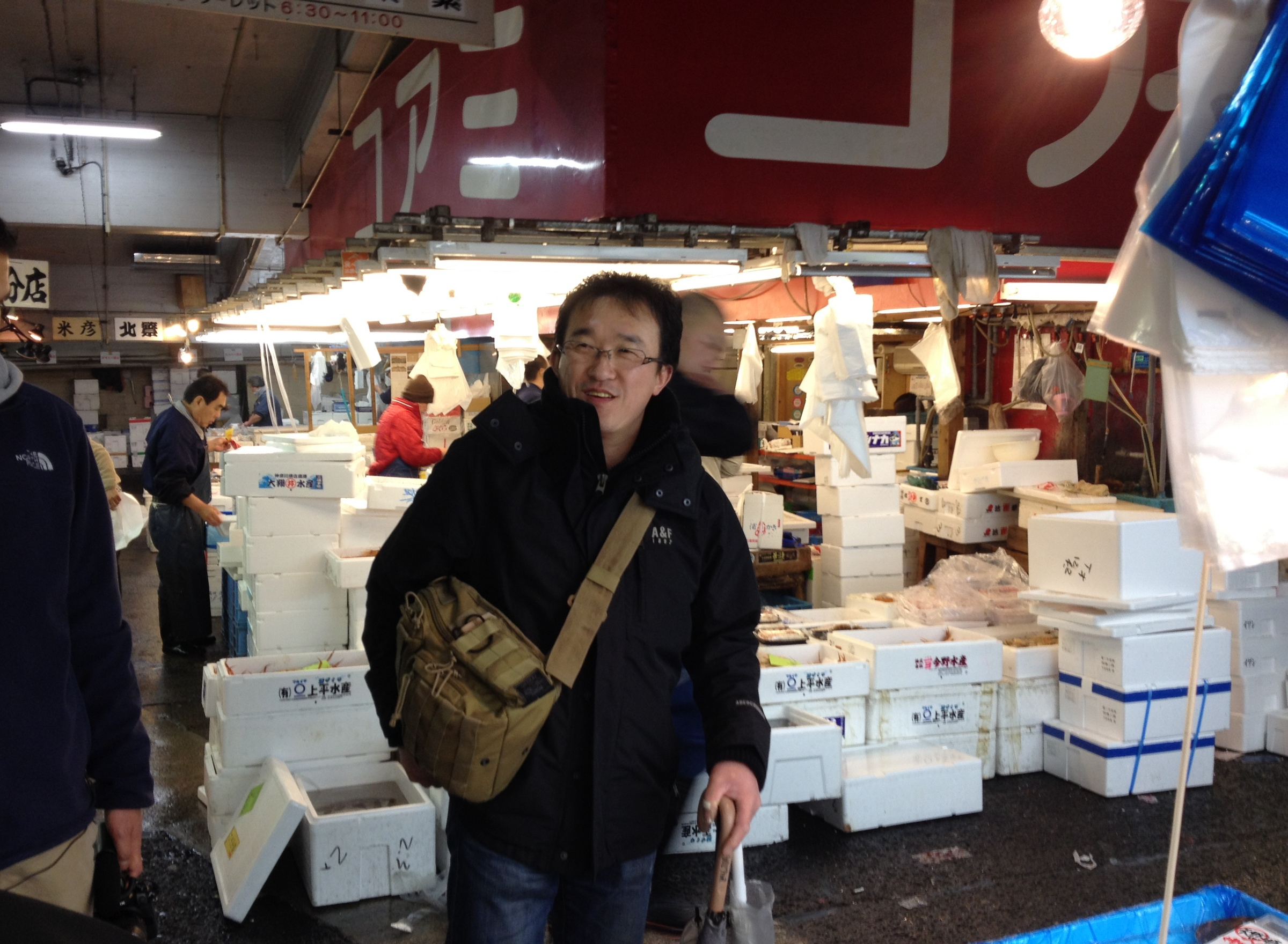 Buying fish at Tsukiji