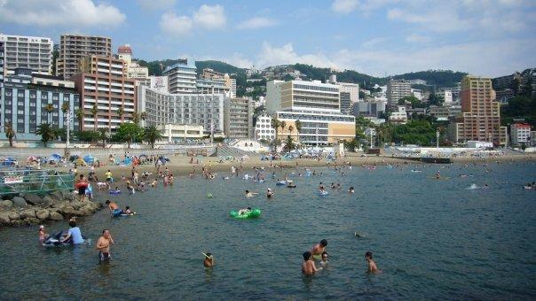 Every summer, Atami Sun Beach becomes a popular spot for the local beach-goers.