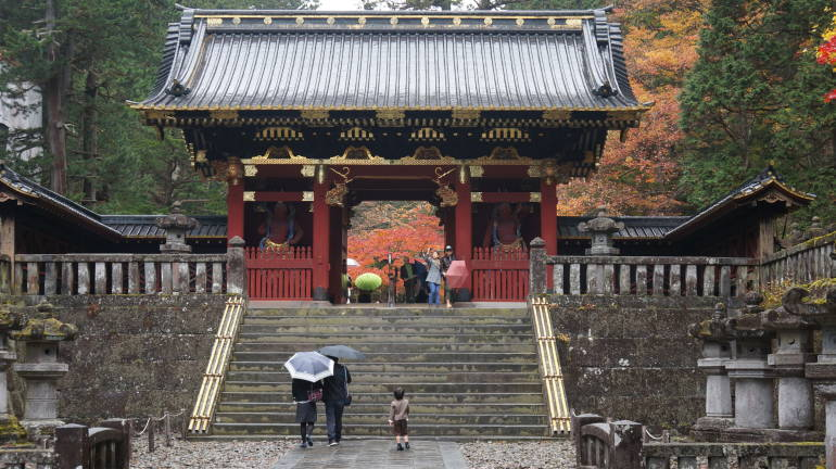 A temple gate in Nikko, Tochigi Prefecture, Japan