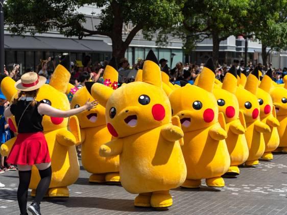annual dancing pikachu horde in Yokohama