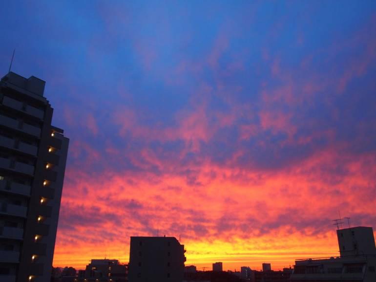 rainy season sunset
