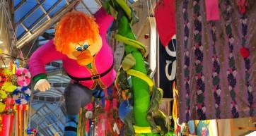 Paper-maché creations at Asagaya Tanabata Festival