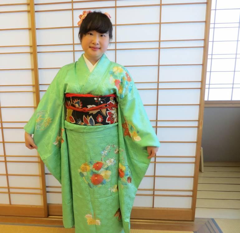 The author in kimono