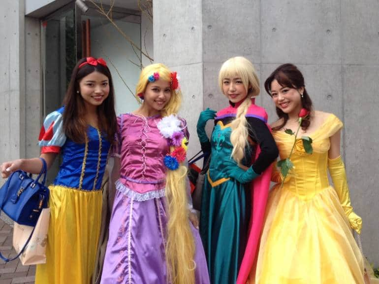 Disney princesses in Azabu Juban