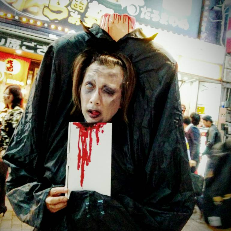 headless man tokyo halloween 2015