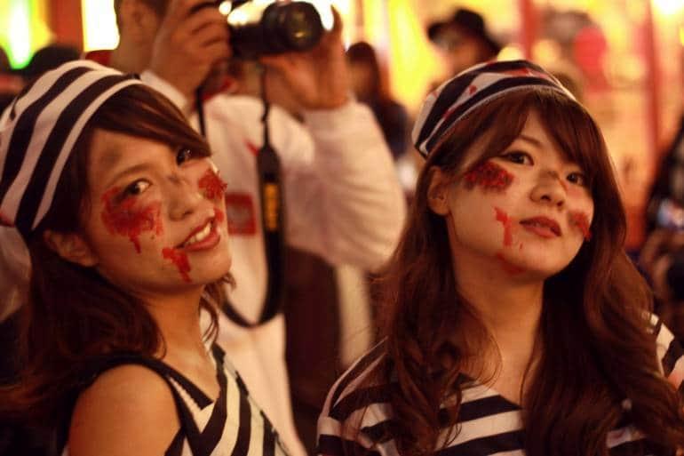 Halloween revelers in Roppongi