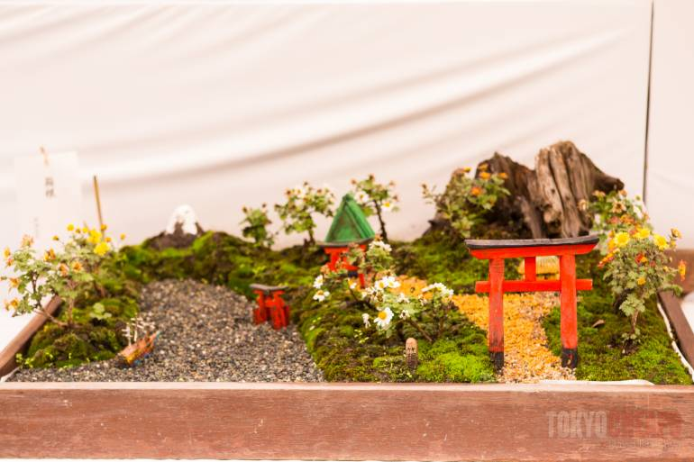 Bonsai dioramas at Meiji Jingu