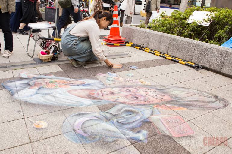 Amazing chalk artist