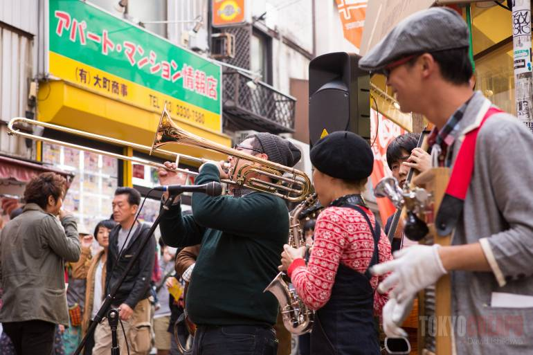Music performances could be found on just about every street
