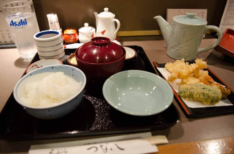 Tempura Lunch Set at Tsunahachi